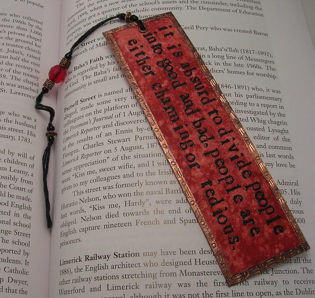 oscar wilde bookmark - front - tedious
