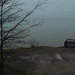 Lake Erie on a foggy day from the foam house