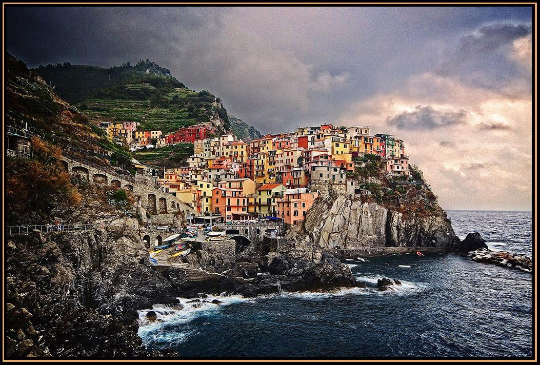 Cliff top village. by tassie303