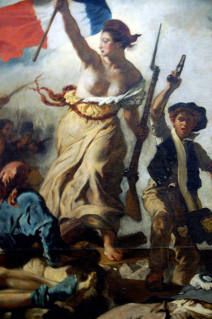Louvre Museum - Eugene Delacroix's Liberty Leading the ...