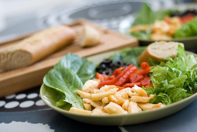 Warm Halloumi Salad