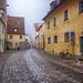 Cobblestone Street in Regensburg, Germany by ` Toshio '