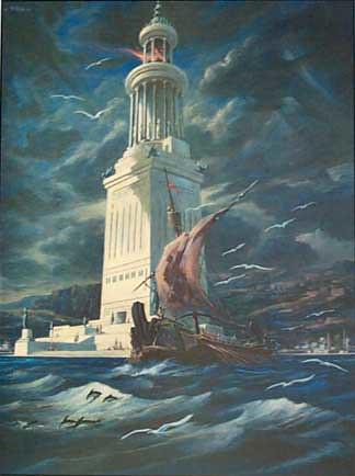 Representação gráfica do Farol de Alexandria