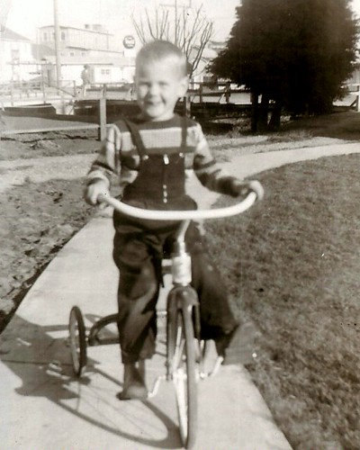 my first tricycle - summer 1956