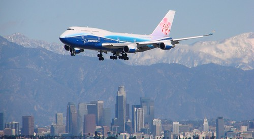 China Airlines Over LA