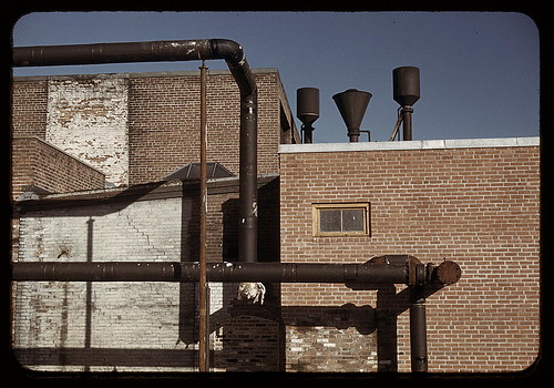 Detail of industrial building in Massachusetts (LOC)