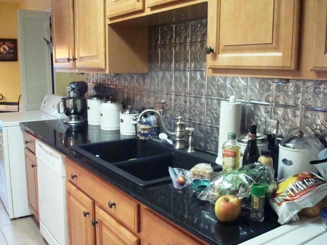 kitchen iii i love the pressed tin backsplash and the blac