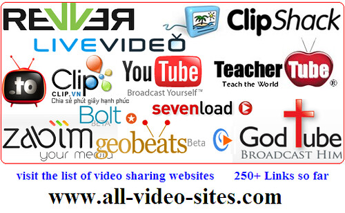 All video sites-list