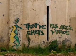 Poitiers, graffito derrière l'église Saint-Hilaire le Grand, 9 mai 2008
