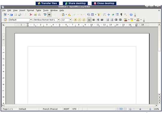 Openoffice 3 0 en ligne gratuitement avec ulteo - Open office en francais gratuit ...