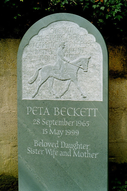 Memorial to a horsewoman.