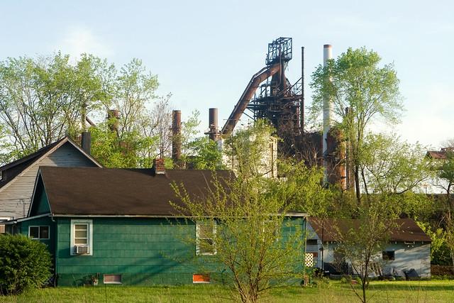 Blast Furnace Over Warren Flickr Photo Sharing