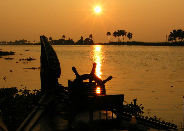 Kerala India Backwaters Sunset