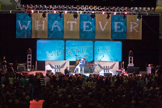 The Youth Rally stage at the Ocean City Convention Center ...