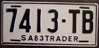 AUSTRALIA, South Australia 1983 dealer plate