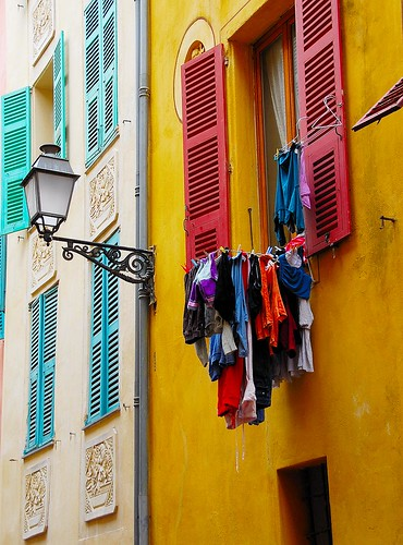 Washing day in Nice.