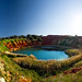 Bauxite Quarry (Landscape panoramic exam) (6 vertical shots sticked) (Otranto - Salento - Puglia)