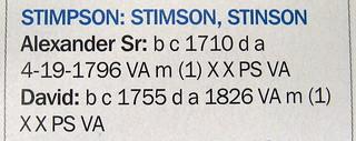 My Stinson Patriot Ancestors