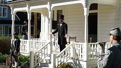 President Abraham Lincoln (Robert Broski) delivers