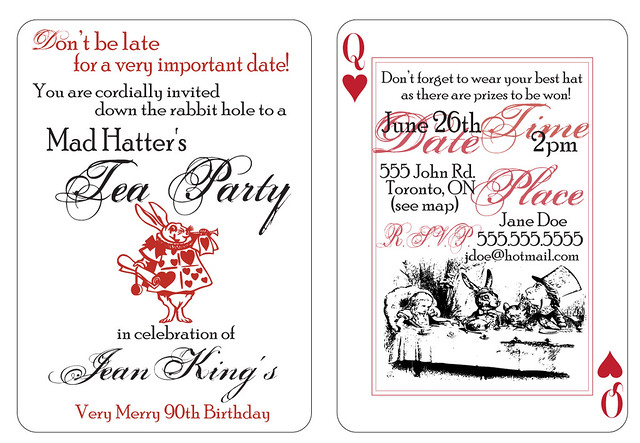 mad hatter tea party invitations flickr photo sharing