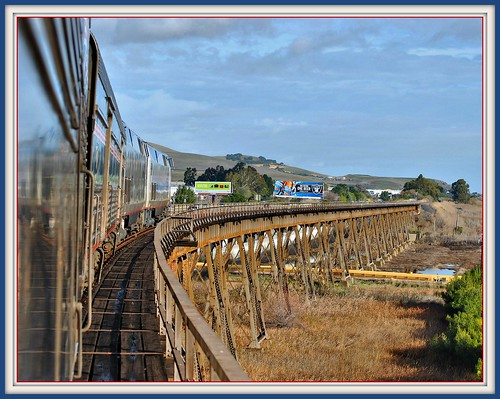 california travel trestle train december amtrak benicia klm 2010 eastbound californiazephyr