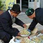 Kashgar Old Town, Selecting Grapes - Xinjiang, China