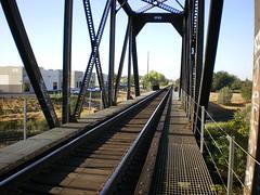 Through truss bridge over Antelope Creek
