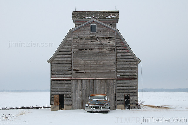 Cadillac and Barn