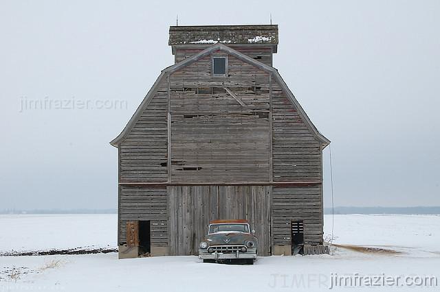 Cadillac and Barn
