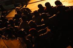 Flüchtlinge vor Lampedusa (2007). Foto: Noborder Network / flickr (CC BY 2.0)
