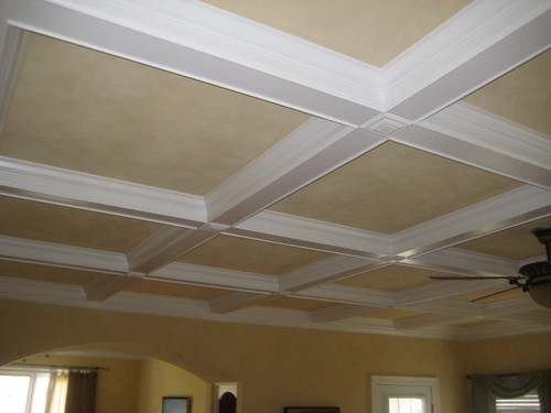 Simple ceiling designs joy studio design gallery best for Average cost of coffered ceiling