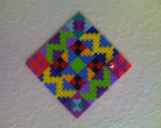 perler bead quilt block