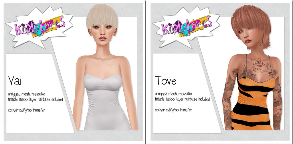 [KoKoLoReS] Hairs - Vai & Tove - SecondLifeHub.com