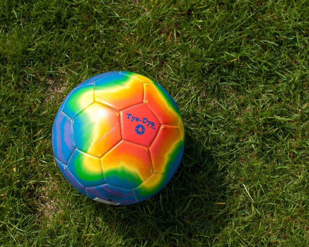 Tye-Dye soccer ball