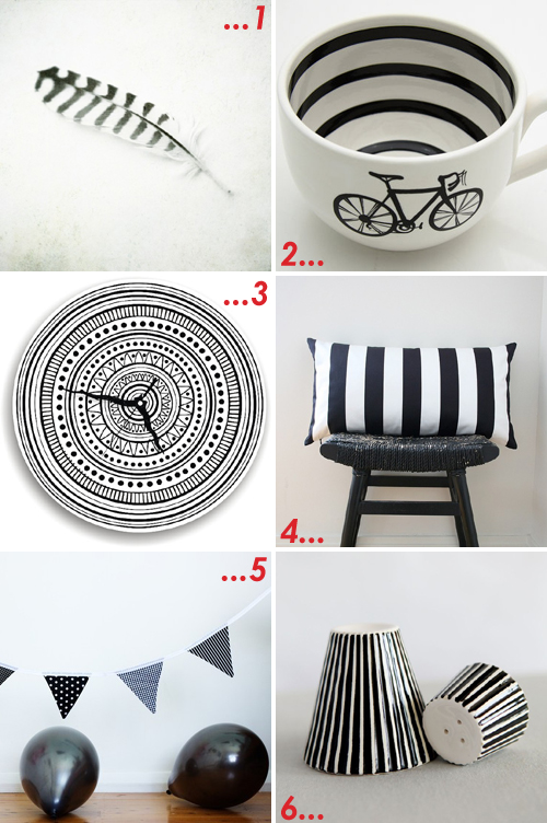 etsy favourites : black & white stripes by  emma lamb