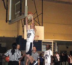In this 2007-08 game vs. Saul, Franklin Towne's James Stephenson was summoned from the bench to untangle the net. | by tedtee308