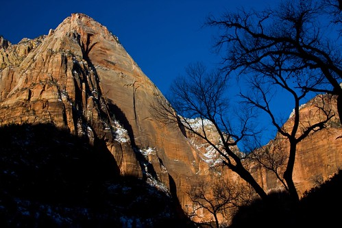dawn - winter morning - Zion NP - 2-17-08  01