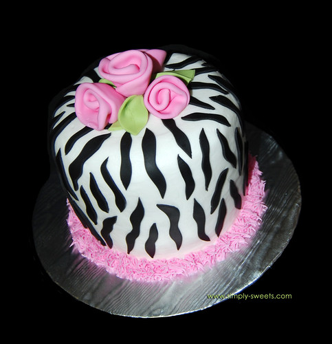Zebra Design Birthday Cake : Simply Sweets Cake Studio, Scottsdale Phoenix, AZ -custom ...