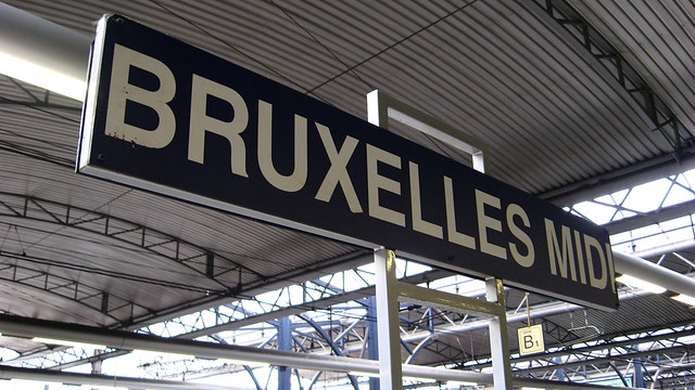 Bruxelles Midi station sign