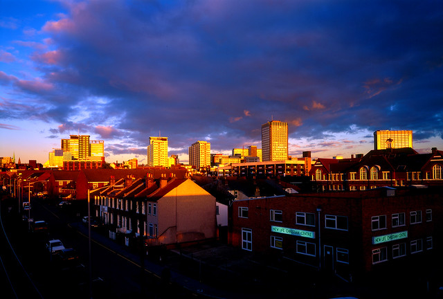 Croydon at dusk
