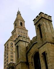 Travelers towers and Wadsworth Atheneum - Hartford