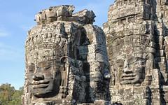 Tours à visages du Bayon (Angkor, Cambodge)