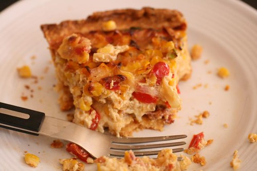 Corn and Bacon Pie with a Whole Grain Cornmeal Crust | Flickr - Photo ...