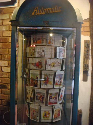 automatic postcard vendor