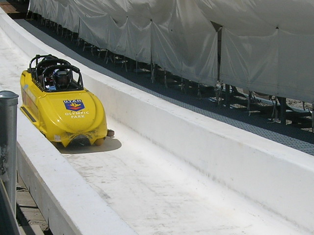 Bobsledding in Olympic Park