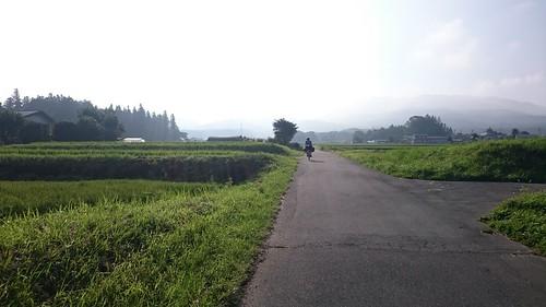 2日目、高ボッチ高原に向かう道中の田舎道。故郷茨城を彷彿させる…