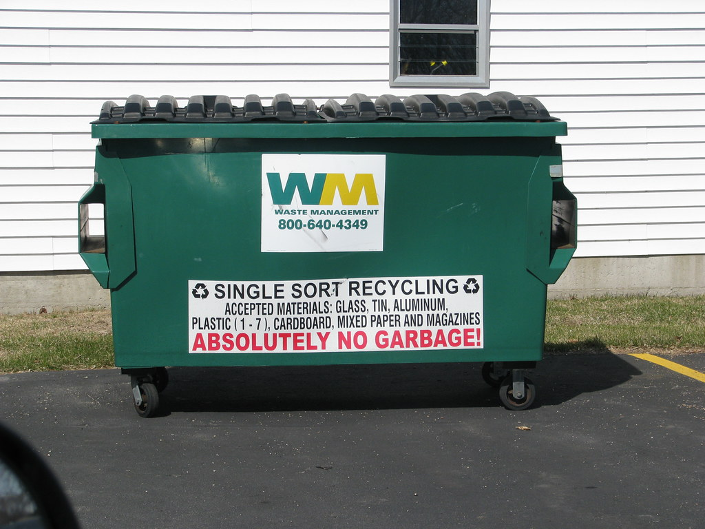 w m recycling dumpster