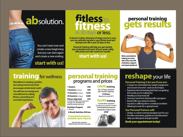Personal training brochure explore marketmyclub 39 s photos for Training brochure template