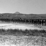 Lemnos 1915. Route march. Australian Soldiers.