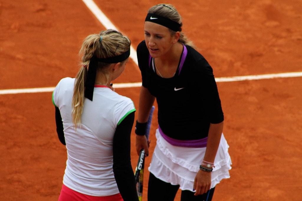 Maria Kirilenko and Victoria Azarenka